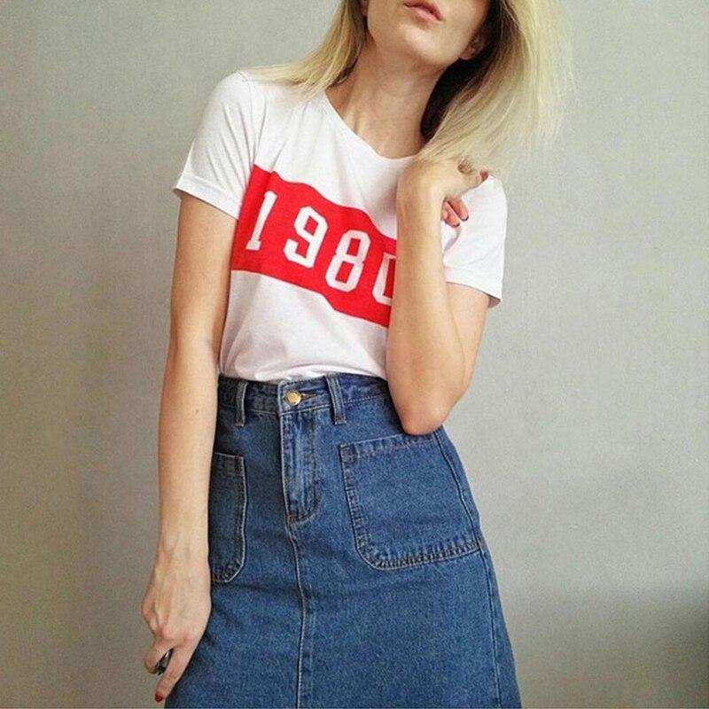 brand women t shirt fashion summer street casual cotton t shirt 1980 print white femme t shirt new design short sleeve top tee