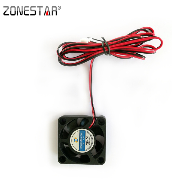Zonestar Extruder Cooling Fan 40X40X10mm DC12V Current 0.12A 3D Printer Accessories Parts with 1m Wire XH-2 Connector