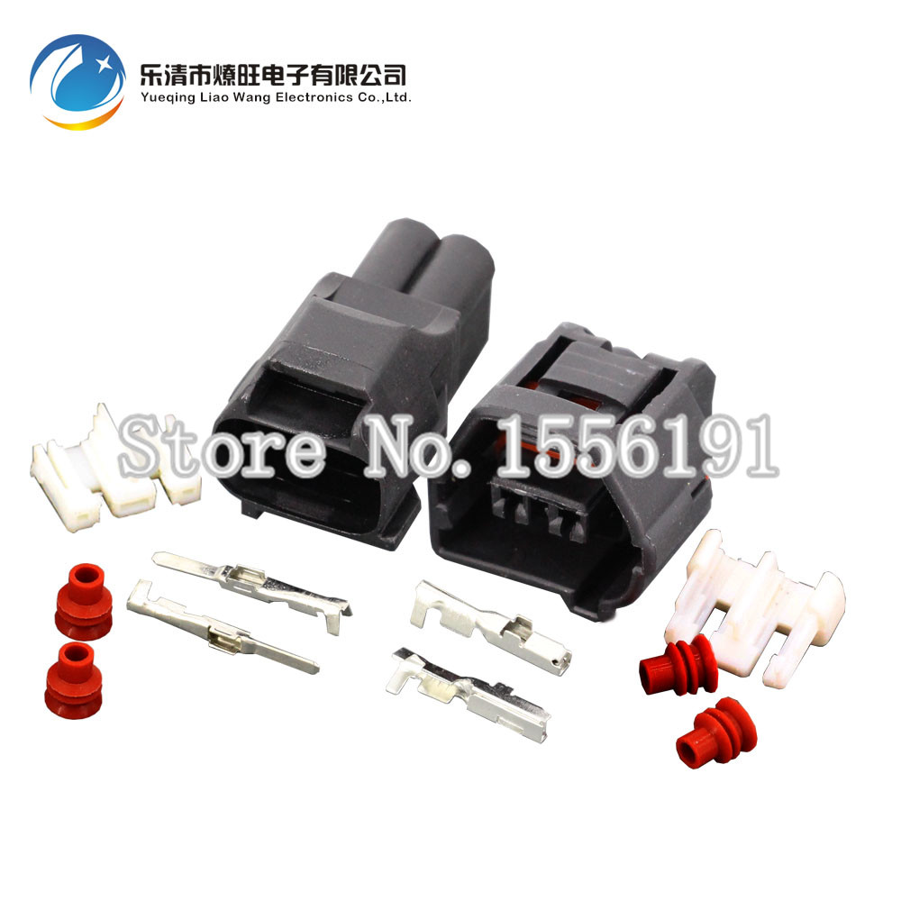 popular toyota wiring harness connectors buy cheap toyota wiring 10sets auto 2 pin female male crank sensor wire harness waterproof connector for lexus toyota dj70229q