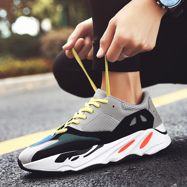 9879c824863 Vintage dad Men shoes 2018 kanye west fashion mesh light breathable men  casual shoes men sneakers