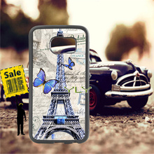 Paris eiffel tower soft TPU edge cell phone cases for samsung s6 plus s7 s8 s9 s10 lite e note8 note9 cover case