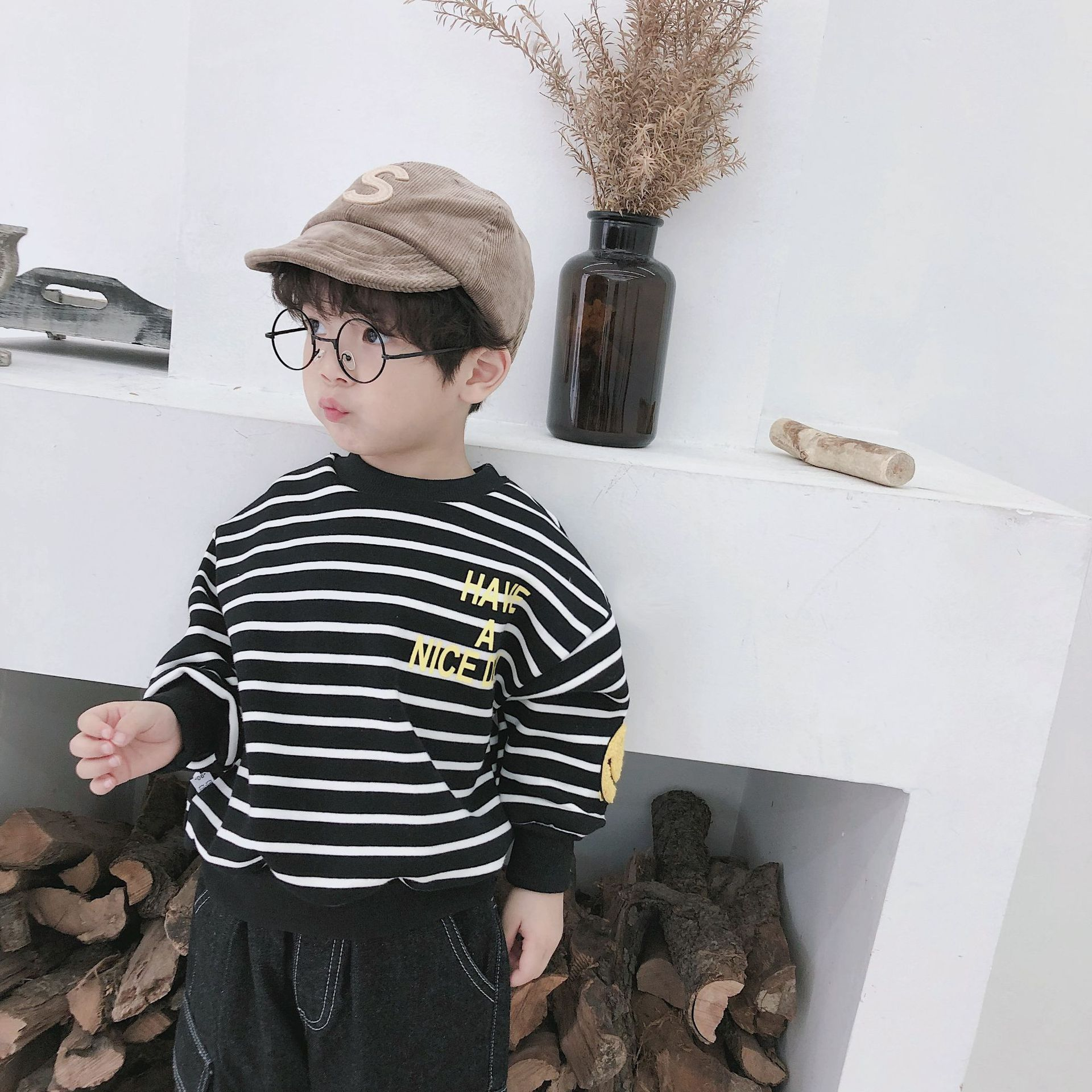 2018 autumn winter Korean version of children s closing kids T shirt