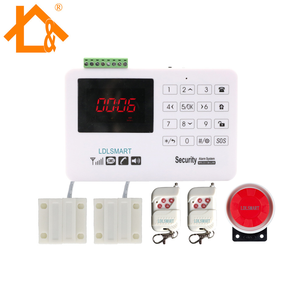 Russian English Spanish Language Wired and Wireless LCD Home Security GSM Alarm System Alarm Main Panel
