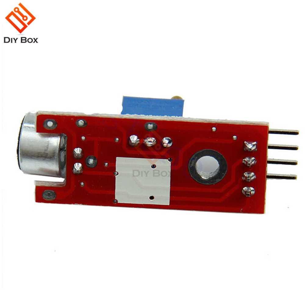 Baru 4pin 5V DC Power Supply Sensitif Suara Mikrofon Sensor Deteksi Sensor Modul UNTUK ARDUINO AVR PIC