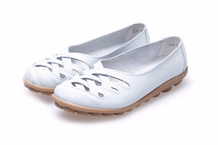 Hot Sale 2016 Spring New PU Leather Woman Flats Moccasins Comfortable Woman Shoes Cut-outs Leisure Flat Woman Casual Shoes ST181 (22)