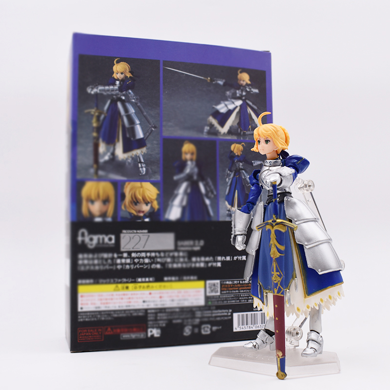 Hot Sale Figma 227# Game Anime Fate Stay Night Saber 2.0 Ver. 14CM Action Figure Toys Collectible FREE SHIPPING huong anime fate stay night fate 24cm saber lili battle ver pvc action figure collectible toy model briquedos christmas gift