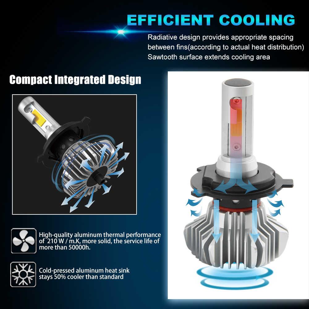 BraveWay LED Light Bulb for Car H4 LED H7 Headlight Lamps Running Lights H7 H11 H1 LED Bulb HB3 BH4 9005 9006 12000LM 12V Moto