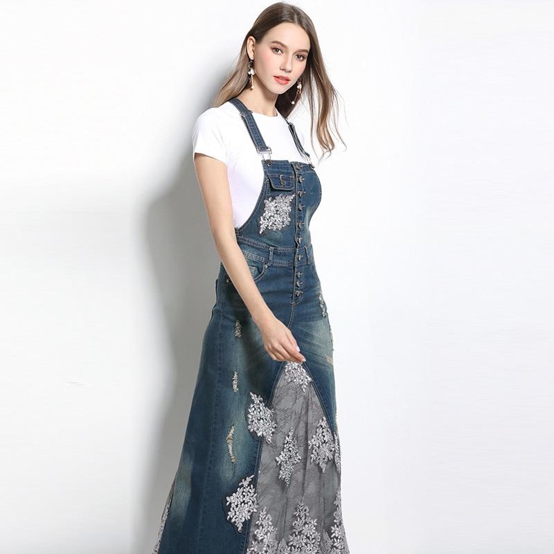 Fantastic Denim Jumper Dress Women  Oasis Amor Fashion