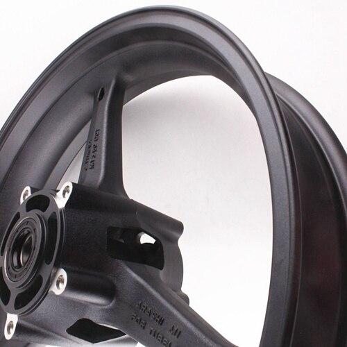Motorcycle Front Wheel Rim For Suzuki GSXR 600 GSXR 750 K6 2006-2007 GXSR1000 K5 K7 2005 2006 2007 2008 Aluminum Alloy Black (2)