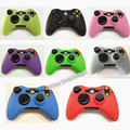 8 Color Joystick Gel Skin Silicone Cover for XBOX 360 Wireless Controller Case Cover silicona Free Shipping