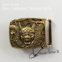 Retail New Style High Quality Solid Brass Cool 3D Dragon Belt Buckle For 4cm Wide Belt