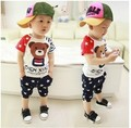 2015 Summer The Korean version  Lovely 100 % Soft Cotton Child  Short Sleeve T-shirts