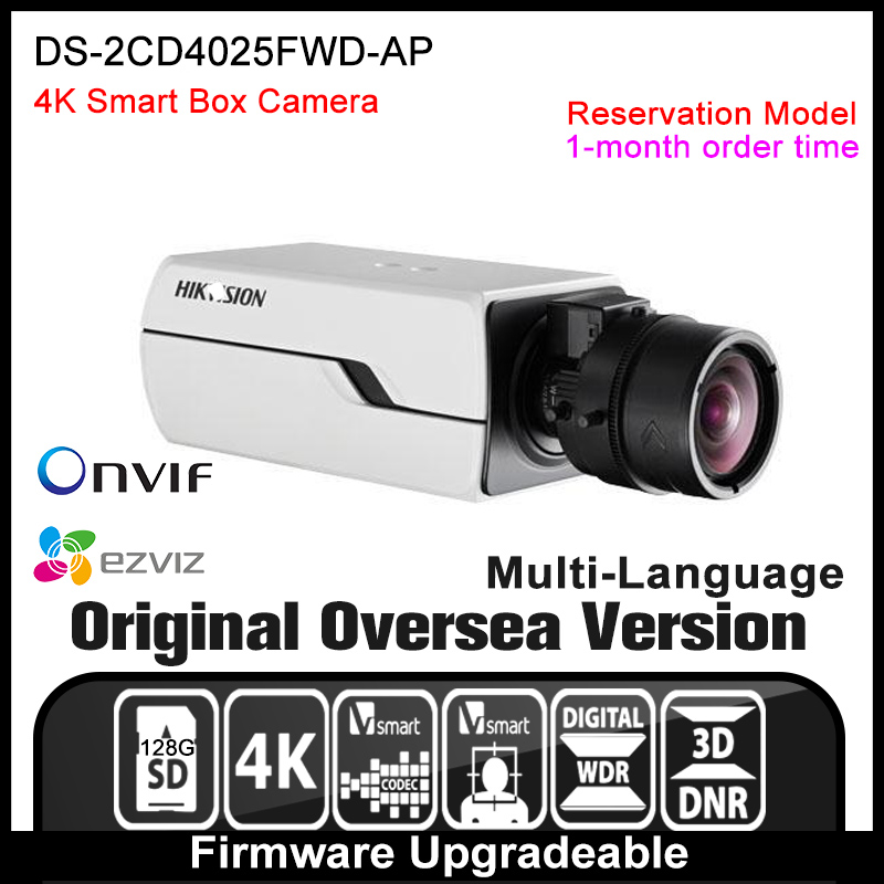 Hikvision   DS-2CD4025FWD-AP Original English Version IP camera 4K security camera CCTV camera P2P ONVIF POE indoor HD H265 hikvision ds 2ae5123t a original english version 2mp ptz ip camera cctv security camera surveillance poe onvif 4k hd network