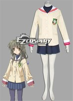 Japanese Anime Outfit Hikarizaka Private Senior High School Uniform Cosplay Costume from Clannad  E001