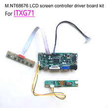 For ITXG71 laptop LCD monitor 20-pins 60Hz CCFL 1024*768 LVDS 1-lamp 14.1″ M.NT68676 display controller driver board kit