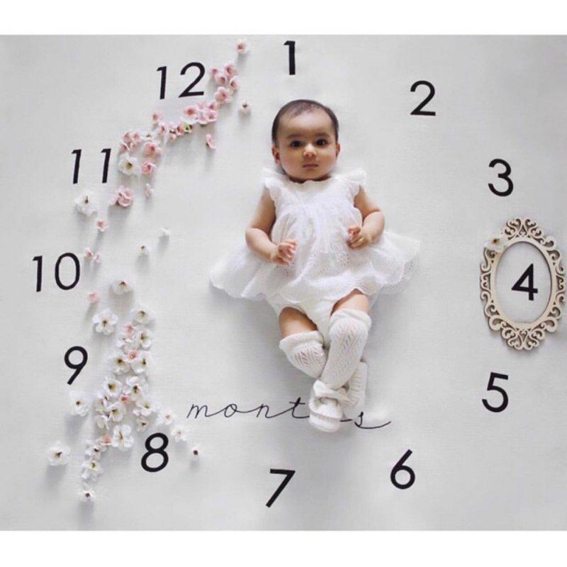 New Kids Infant Baby Cotton Cartoon Photo Photography Prop Wraps Letter 100*100cm Blanket  Baby Newborn