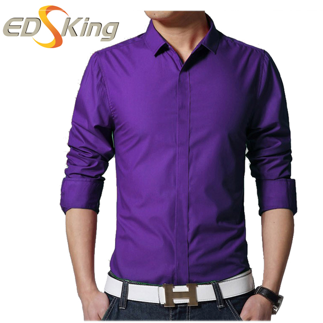 2017 Mens Unique Neckline Dress Shirts Casual Blouse Camisa ...
