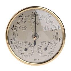 OOTDTY ścienny domowy barometr termometr higrometr stacja pogodowa wiszący w Termometry od Narzędzia na