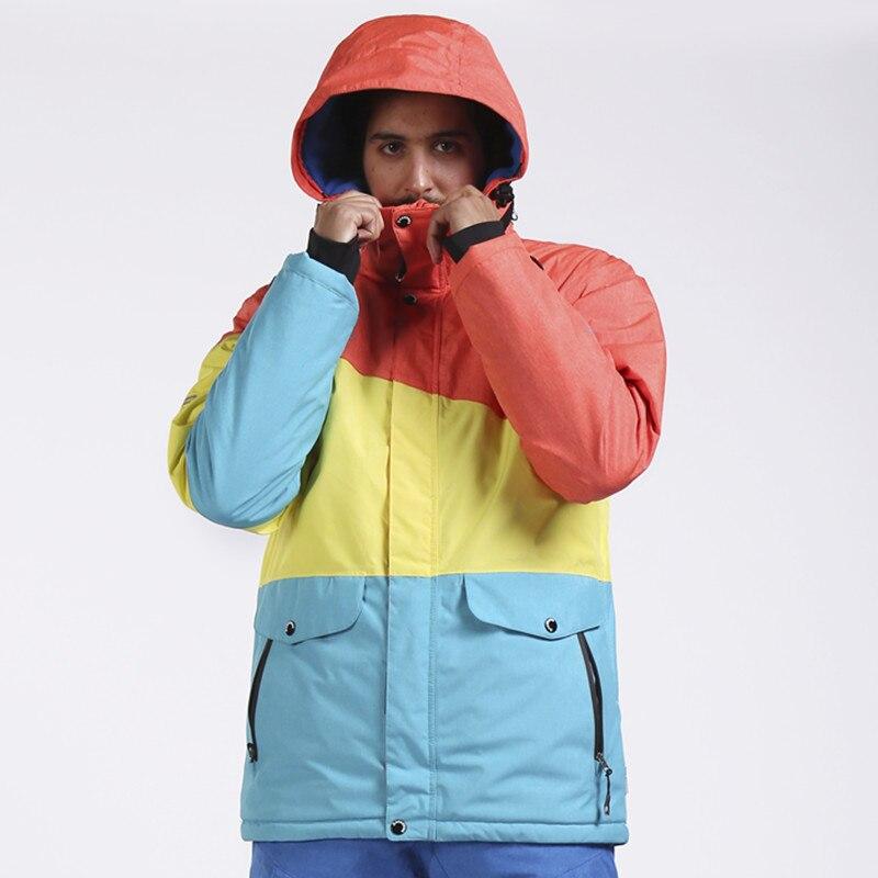 SAENSHING veste de Snowboard hommes veste de Ski imperméable vêtements de neige épaissir chaud extérieur Ski vestes d'hiver Ski et Snowboard - 6