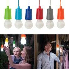 แบบพกพาหลอดไฟแขวนโคมไฟหลอดไฟ LED กลางแจ้ง camping garden party ตู้เสื้อผ้า LED โคมไฟดึงสายไฟหลอดไฟ verlichting snoer tuin