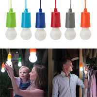 portable light bulb suspension lamp LED bulb outdoor camping garden party closet LED Lamp Pull Cord Bulb verlichting snoer tuin