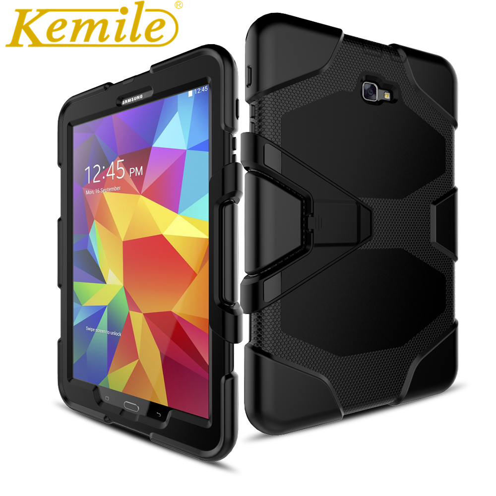 Kemile Case for Samsung T580 High Quality Armor Shockproof Case Cover For Samsung Galaxy T580N/t585C/T580N TAB A10.1 case for samsung galaxy s9 shockproof transparent back cover