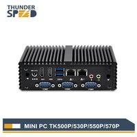 חמה למכירה Intel Core i3 מיני מחשב Windows 10 Fanless 4 * COM 2 * LAN 2 * HDMI 4 * USB3.0 תמיכת i7 i5 i3 מחשב מיני 4010U 4005U לינוקס