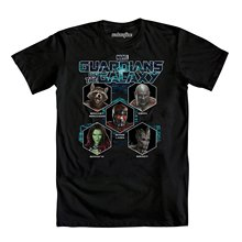 Hip hop Simple Splicing Tee Tops Shirt Mighty Fine Guardians Of The Galaxy In Concert T