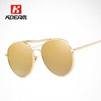Multiple Colors Polarized Sunglasses Round Twin-Bridge Vintage Sun Glasses Women oculos redondo Retro Sunglass With Case