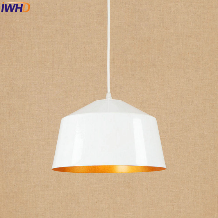 IWHD Creative Nordic LED Pendant Lights Industrial Vintage Loft Pendant Lamp Simple Hanglamp Fixtures Home Lighting Luminaire iron cage loft style creative led pendant lights fixtures vintage industrial lighting for dining room suspension luminaire
