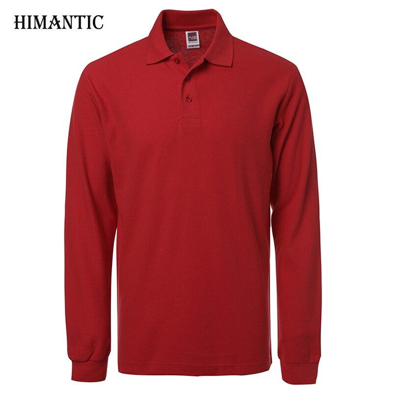 a546b71c01 Marca Nova Camisa Polo Hombre Homens Moda camisas Gola Manga Comprida  Casual Camisetas Masculinas Plus Size S-XXXL Polos Moletons