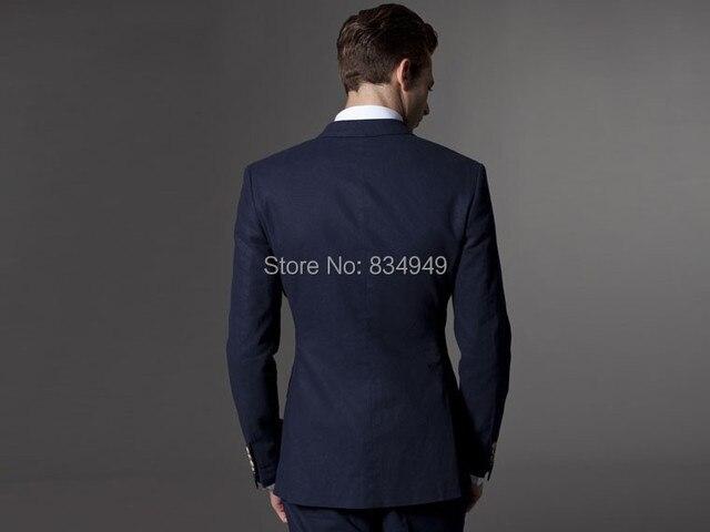 1bda0c29c979e Custom Made Dark Blue Men Suit