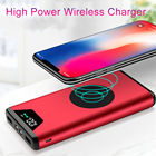 2018 NEW wireless Power Bank Dual USB Power Bank 20000mAh wireless charger Powerbank Battery External Portable with LED Light