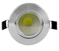 Wholesale Free Shipping Dimmable COB 10W LED Downlight LED Down Light LED Recessed Light With The