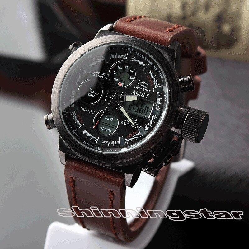 AMST 2016 Relogio Masculino Quartz watch font b men b font Military Sports LED digital watch