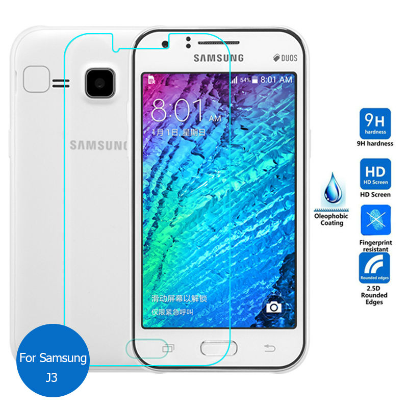 2PCS Tempered Glass For Samsung Galaxy J3 2015 2016 <font><b>2017</b></font> Screen protector on <font><b>J</b></font> 3 Pro 310F 320F 3110 <font><b>330F</b></font> Sm J320F J330F image