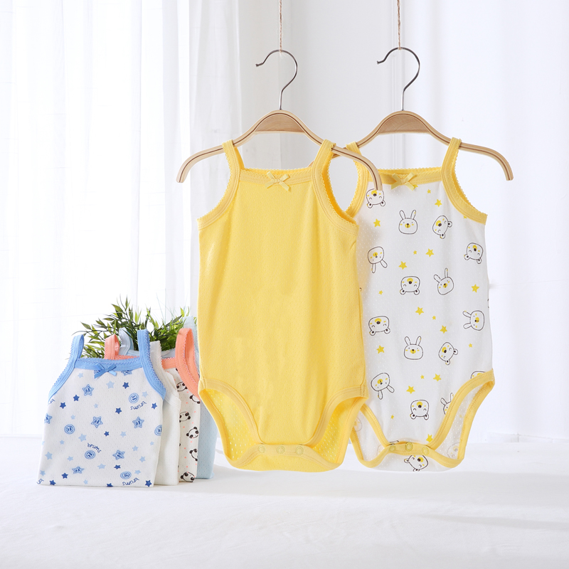 Baby Clothes 2pcs Vest Baby Bodysuit Boy And Girl Clothes Children Clothing 100% Cotton Summer Vest Kids Clothes Animal Overalls