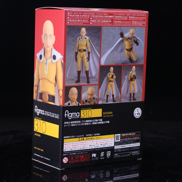 Anime Saitama One Punch Man Figma 310 PVC Action Figure Collectible Model Toys 2