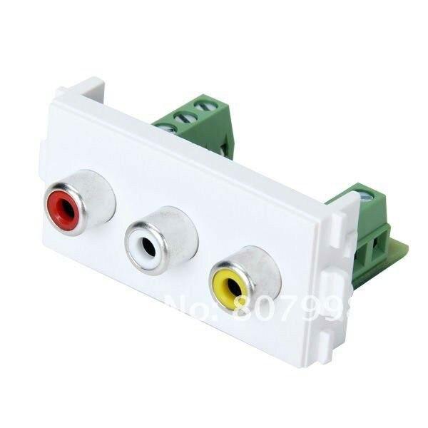 Новые пластины Панель аудио-видео AV модуль компонент совместим с 86/120 настенные тарелки
