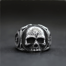 EYHIMD Simple Mens Gothic Tooth Fairy Biker Skull Rings Women Punk Rock 316L Stainless Steel Ring Jewelry