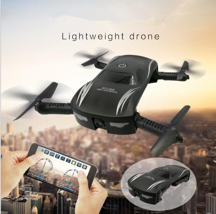 Mini Drone X185 2.4G 4CH avec contrôle de l'altitude caméra HD WIFI FPV RC quadrirotor Selfie Drone de poche pliable vs X5HW