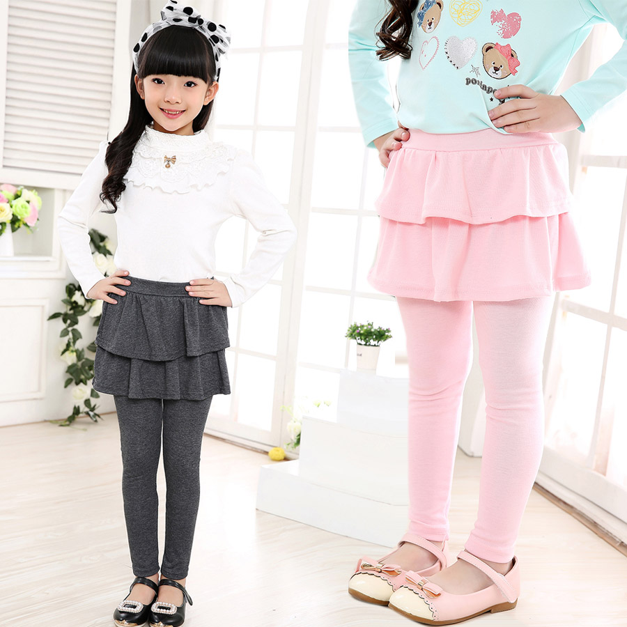 2016-new-Arrival-Spring-Autumn-girls-leggings-Girls-Skirt-pants-Cake-skirt-girl-baby-pants-kids-leggings-3-11Y-Q2306-2