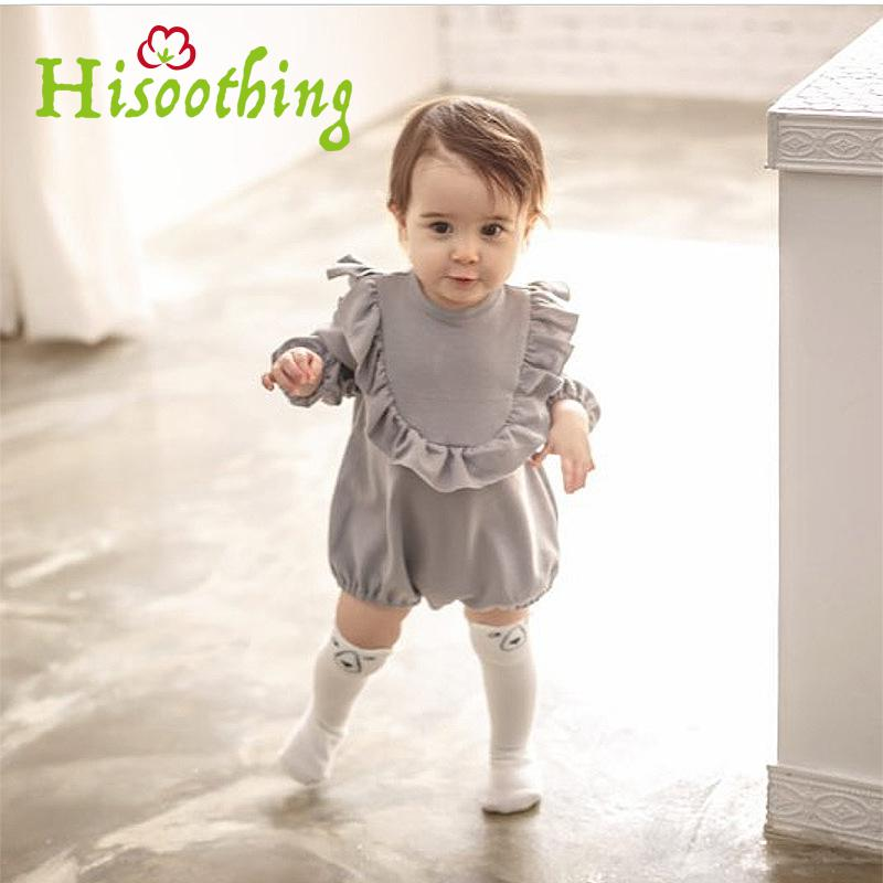 New Fall Girl Romper Lantern Leg Lovely Grey Autumn Children In Europe And America Ins Explosion Leotard платье oodji oodji oo001ewntp37