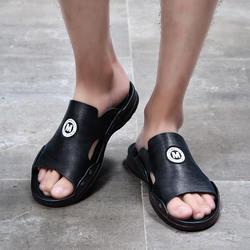 Кожаные туфли, мужские повседневные сандалии, летние шлёпанцы, уличная пляжная обувь, большие размеры ND286