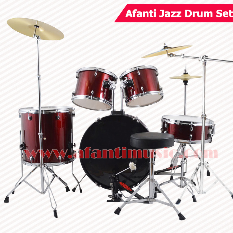 5 drums 3 crash cymbals purple color afanti music jazz drum set drum kit ajds 434 in. Black Bedroom Furniture Sets. Home Design Ideas