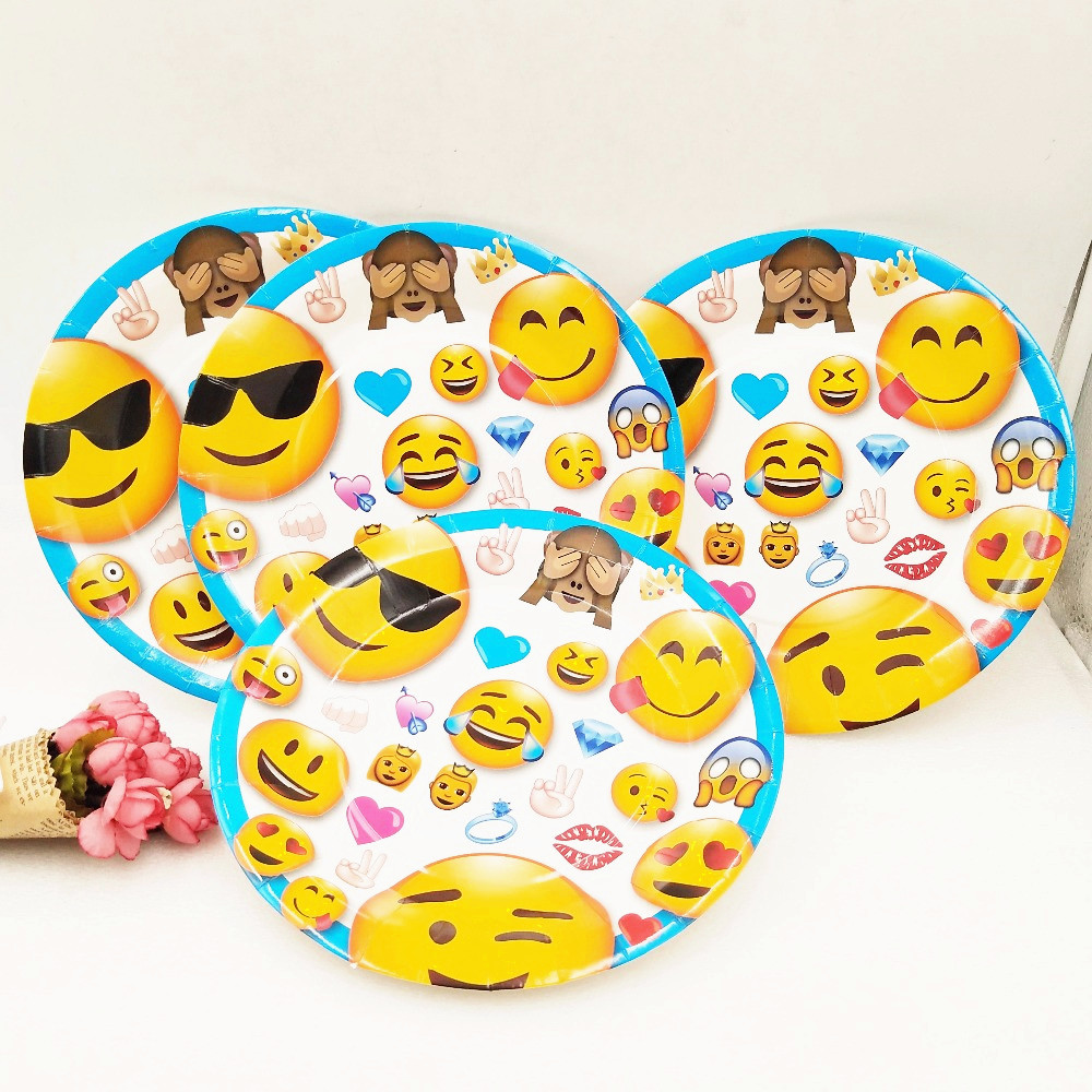 6pcs/bag 9 inch Emoji Expression Party Supplies Plastic Plates Cartoon Party For Kids Happy Birthday Decoration Theme Party-in Disposable Party Tableware ... & 6pcs/bag 9 inch Emoji Expression Party Supplies Plastic Plates ...
