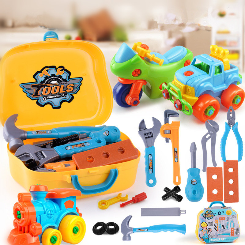 Children's Puzzle Garden Tool Disassembly Toy Car Plastic Baby Car Repair Simulation Tools Toys For Children Helicopter For Boy