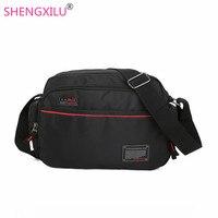 Shengxilu Travel Men Bag Fashion Brand Logo Shoulder Bags High Quality Oxford Casual Male Messenger Bag