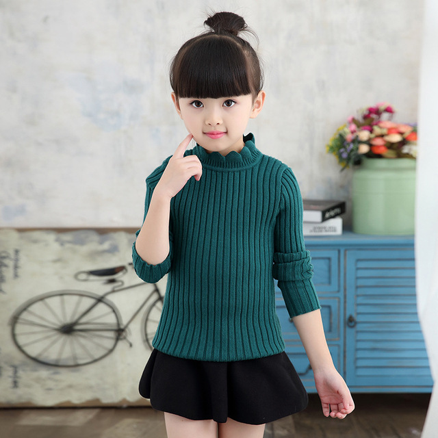 knitting big baby girls sweaters kids spring autumn winter sweater 2017 new long sleeve tops knitted kids sweaters girls