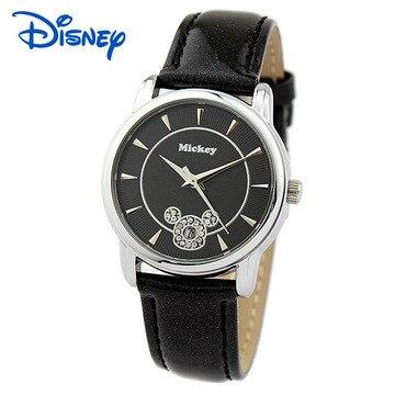 kids watches Disney brand girls boys Mickey Diamond Leather waterproof wristwatch student calendar children clocks relogio